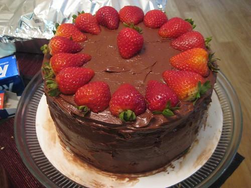 Chocolate espresso chiffon cake