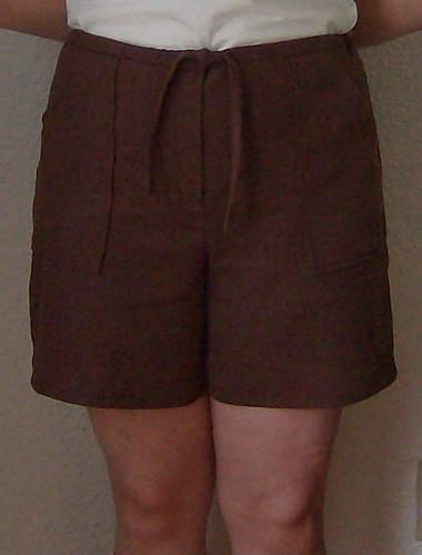 linen shorts front