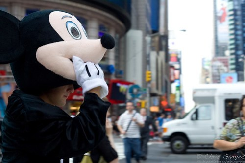 Mickey in Times Square