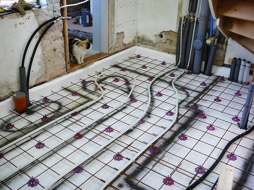 Pex tubing for the floor heat