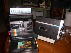 Polaroid 600 and Super 8