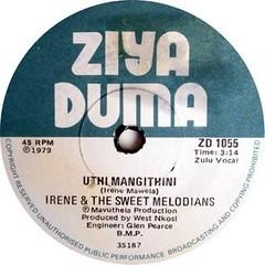 irene & the sweet melodians label -Uthlmangithini