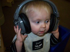 Trent with headphones on by britnard