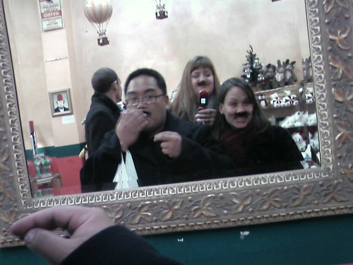 #bafoodblog the evening has deteriorated. We are in a candy store w faux mustaches