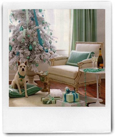 blue-green Christmas