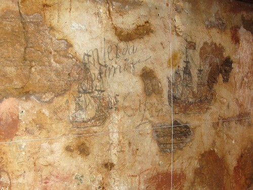 graffiti in the dungeon at san cristobal