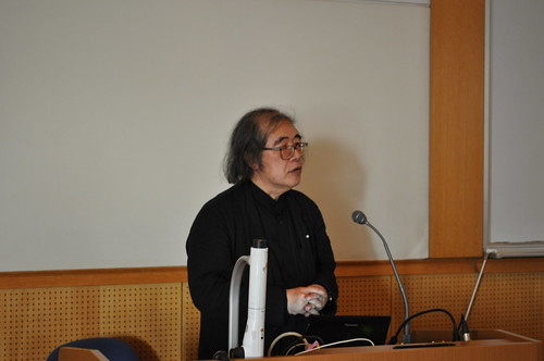 Dr Maruyama presented the notification of the biggest quake here in Japan