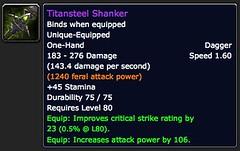 Titansteel Shanker - Item - World of Warcraft
