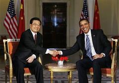 Presidents Obama and Hu Jintao