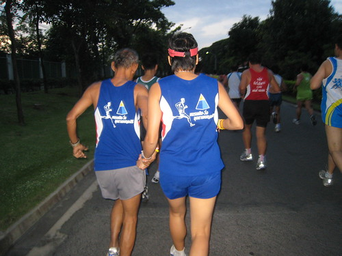 Imagine running a 10k with your wife tugging on your shirt the whole way (Bangkok, Thailand)