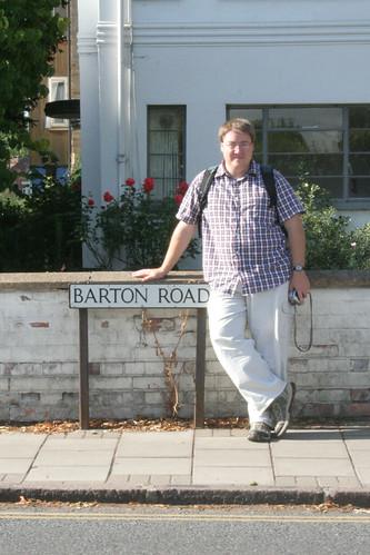 Michael Barton on Barton Road, Cambridge, England