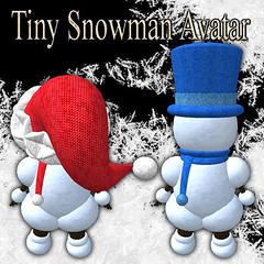 Tiny Snowman Avatar (Back)