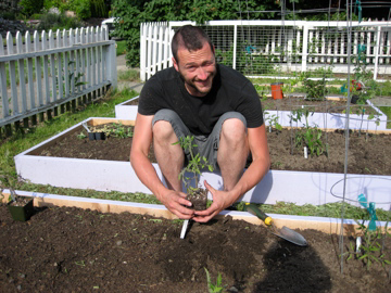 Mike's rare planting photo