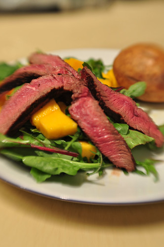 Rare Beef and Mango Salad