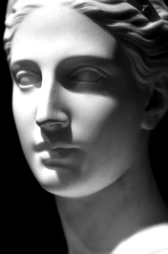"""Bust of Diana"" — Hiram Powers. (Kodak T-Max 400. Nikon F100. Epson V500.)"