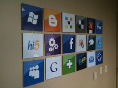 Lots of logos at Clearspring HQ