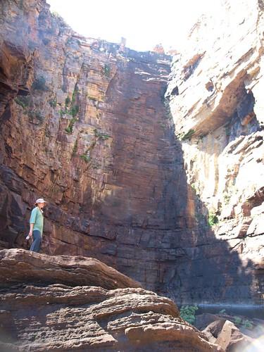 Ella near the base of Jim-Jim Falls