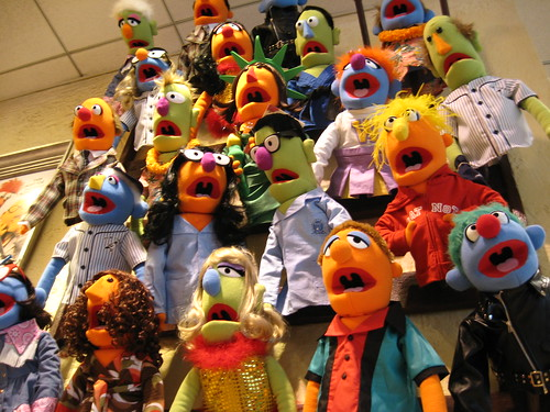 A display of Muppets in the FAO Swartz store