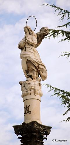 Monumento a la Inmaculada situada en el Rincón de la Aduana