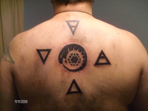 fire, water, eternity tattoo