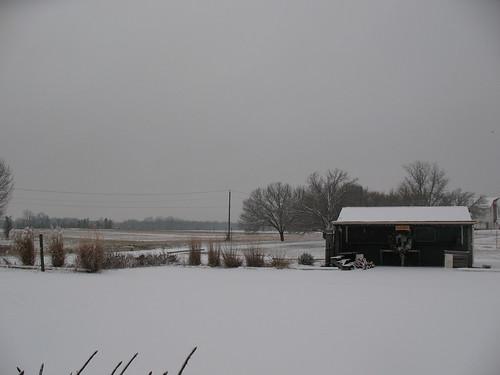 Snowy Farm Stand