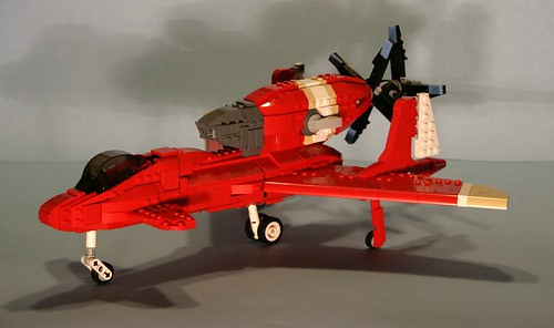 LEGO fighter from Royal Space Force: The Wings of Honnêamise