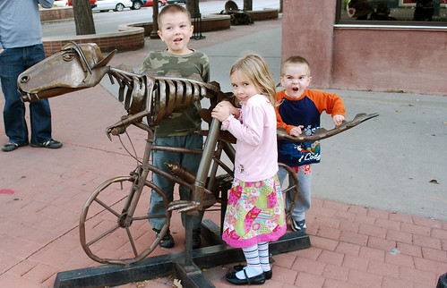 dino on bike - the kids fav