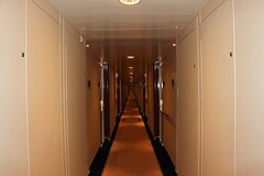 Never ending Corridor onboard Queen Mary 2