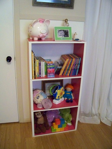 New shelf in Harper's room