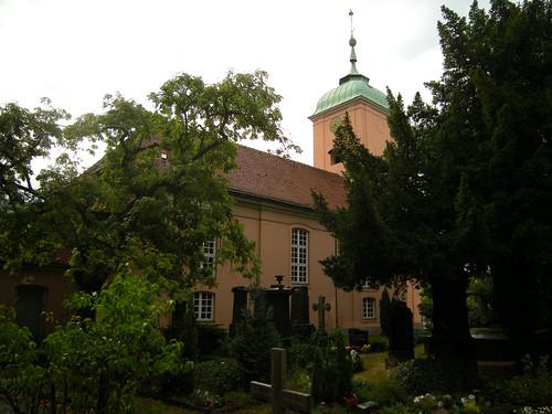 Dorfkirche Schöneberg - vom Friedhof aus gesehen 2