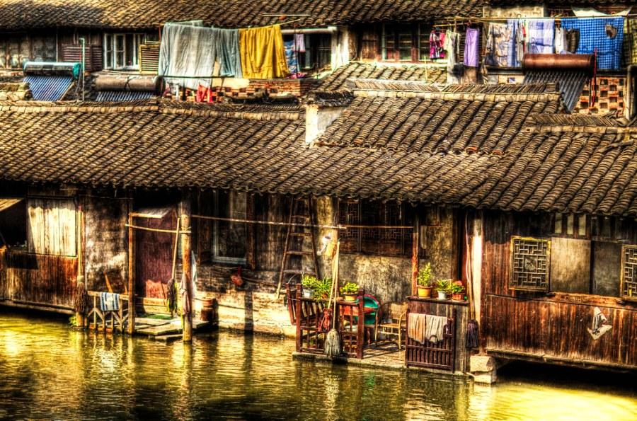 Wuzhen: Balconies.