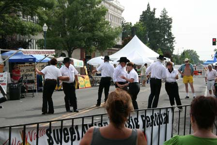 Line Dancing Troupe at the Sweet Onion Festival