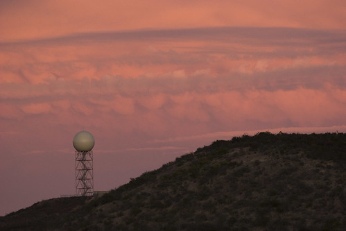 1447 NEXRAD dome with clouds