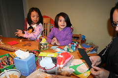 making ornaments w/cousin T