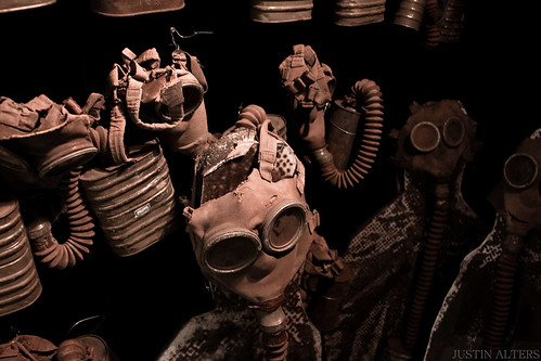 Gas Masks Used For Chemical Experiments