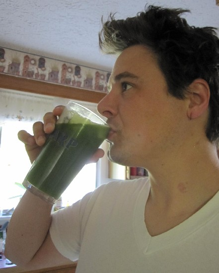 Even the Man Drinks Green Lemonade
