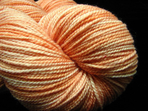 Pumpkin Malted - Hand Dyed Tiger Twist Sock Yarn
