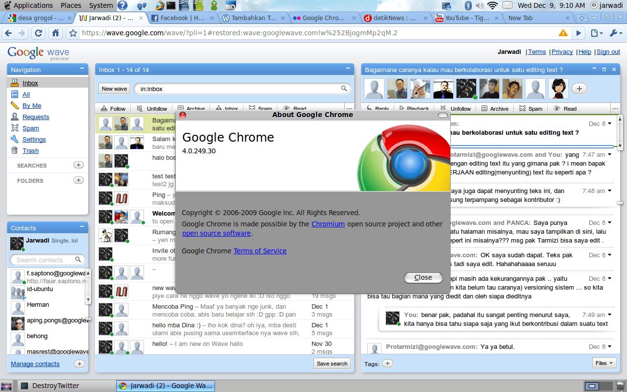 Google Chrome Beta on Karmic Koala