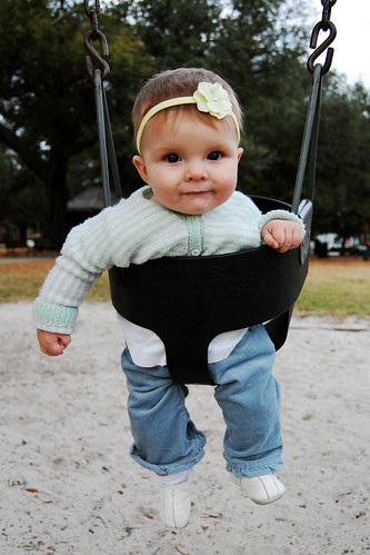 Swingin' solo for the first time.