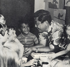 Governor Camacho Visits with Children, 1970
