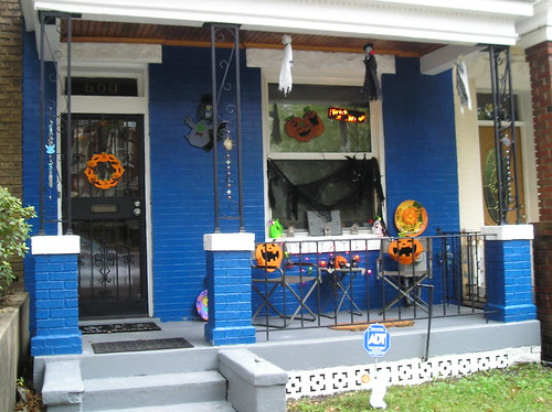 Halloween Decorations at 600 Irving Street, NW