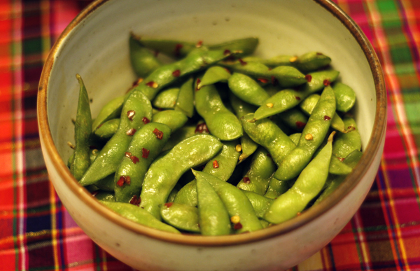 Edamame with Sesame Oil