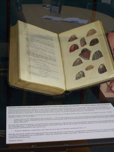 Vol. II of Darwins A monograph on the sub-class Cirripedia (barnacles), Whipple Museum, University of Cambridge