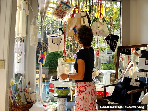 Freida Grotjahn Displays Contest Entries In The Window