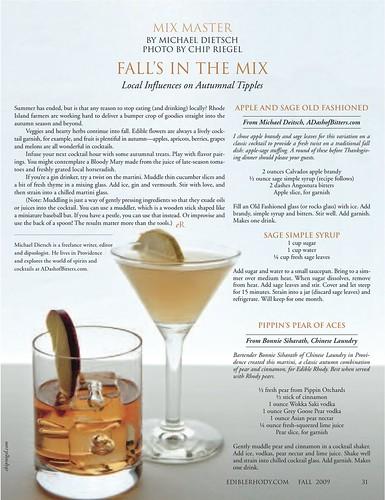 Mix Master, Edible Rhody Fall 09