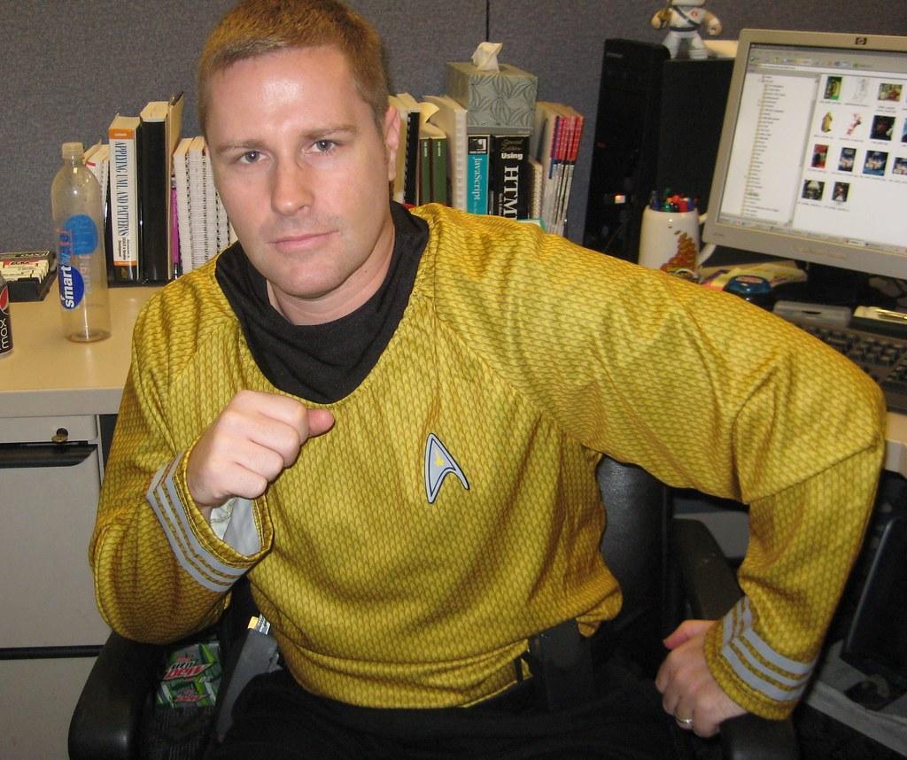 Me as Capt Kirk