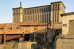 Abandoned Train Depot in Detroit