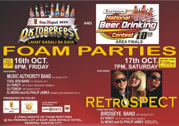 The poster of East Asia Royale Arcades OKTOBERFEST Foam Parties