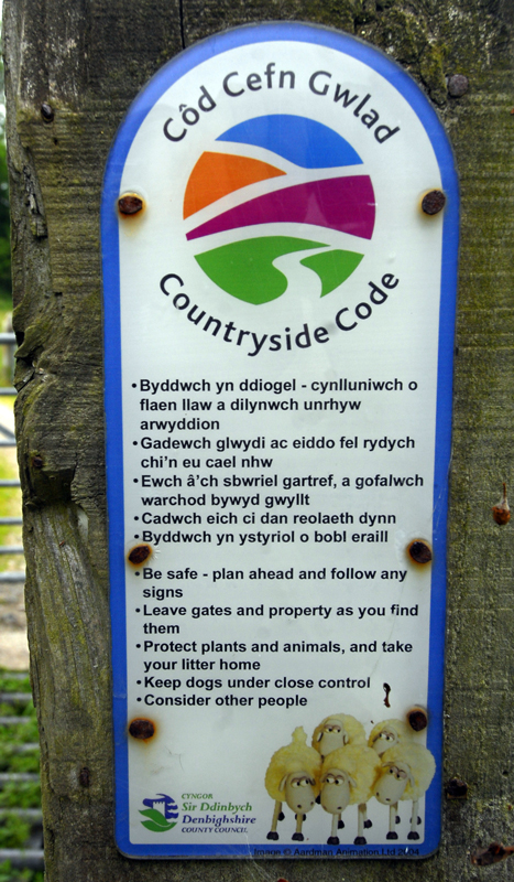 Country Code Sign