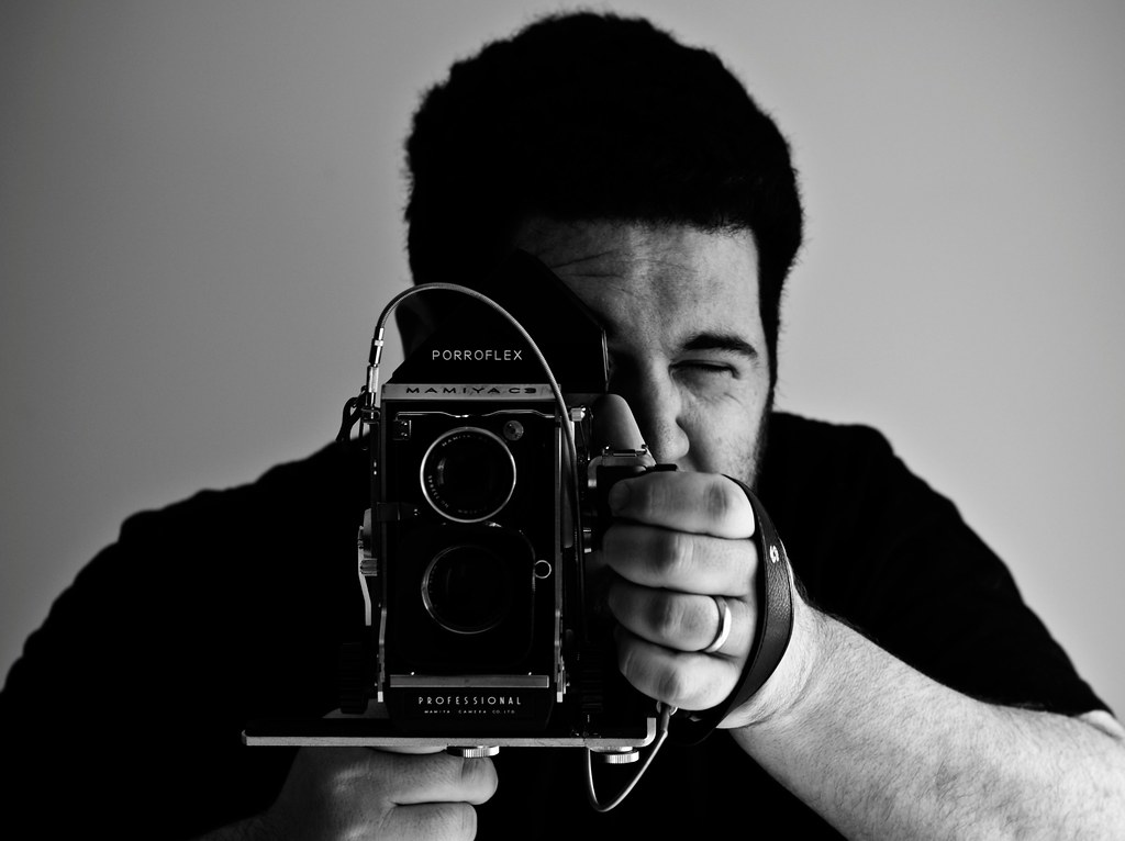 me and the mamiya c3 camera